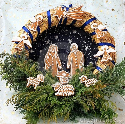 Free Christmas Wreath Royalty Free Stock Photography - 21179127