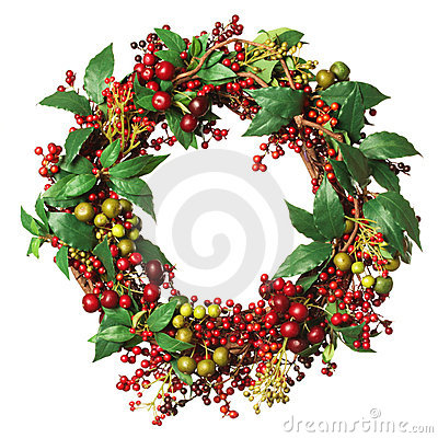 Free Christmas Wreath Royalty Free Stock Photo - 22108585