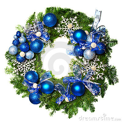 Free Christmas Wreath Royalty Free Stock Images - 22310659