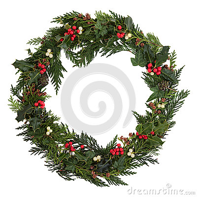 Free Christmas Wreath Stock Images - 26890984