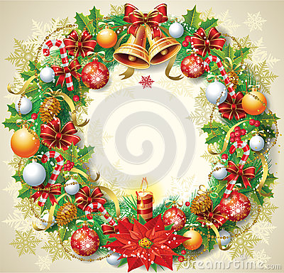 Free Christmas Wreath Stock Photos - 27336033