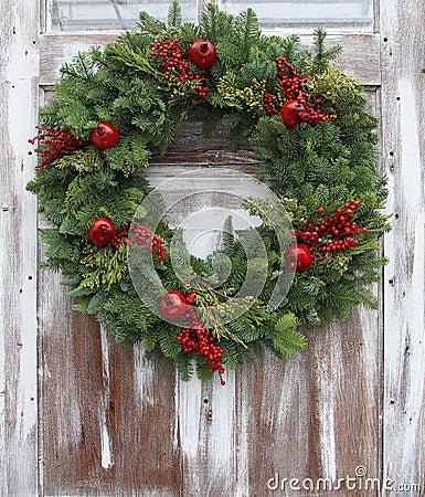 Free Christmas Wreath Stock Photography - 27827172