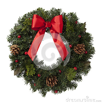 Free Christmas Wreath Stock Photography - 34641842