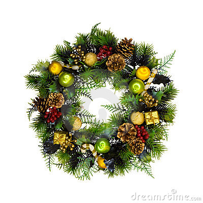 Free Christmas Wreath Royalty Free Stock Images - 3693709