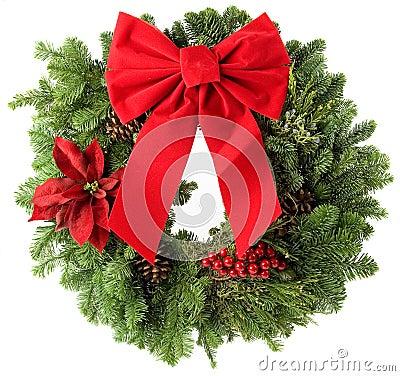 Free Christmas Wreath Royalty Free Stock Photos - 3807438