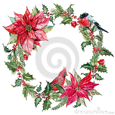 Free Christmas Wreath Stock Photography - 56784282