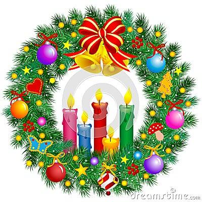 Free Christmas Wreath Royalty Free Stock Photos - 7018008