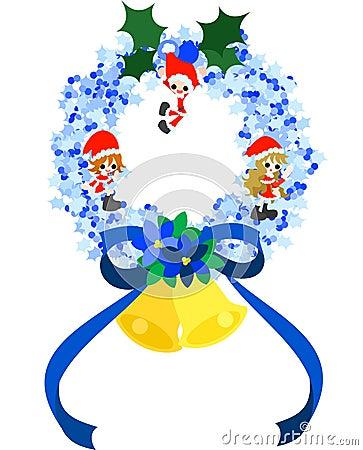 Christmas Wreath -Blue-