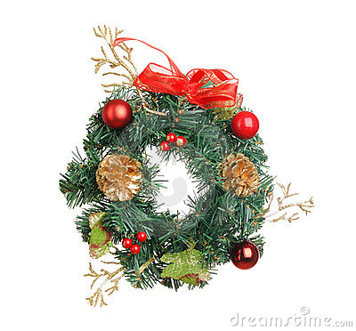 Christmas wreath decoration
