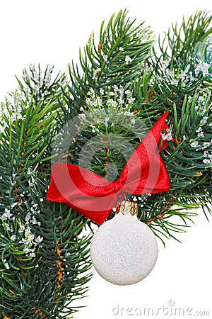 Christmas wreath with decoration ball