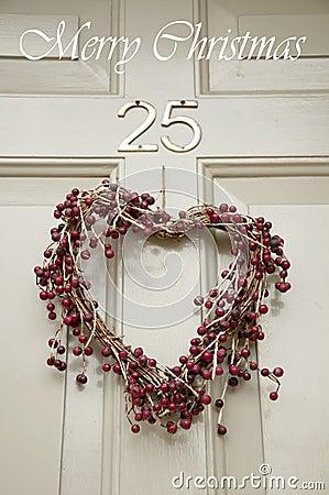 Christmas wreath on a door