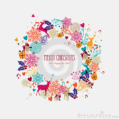 Free Christmas Wreath Holiday Elements Illustration Stock Images - 35744994