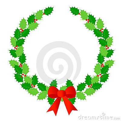 Christmas wreath laurel