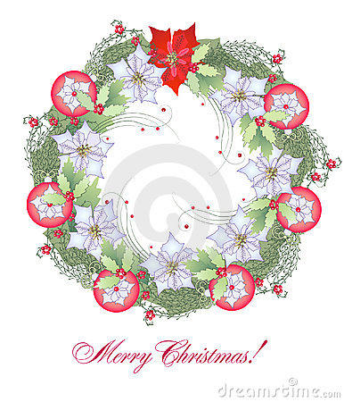Christmas Wreath with Red Balls
