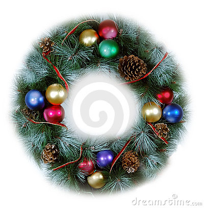 Free Christmas Wreath Soft Isolated Royalty Free Stock Photo - 1267715