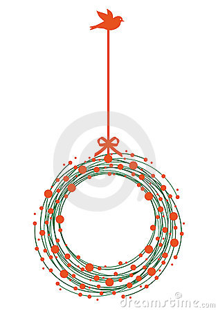 Christmas wreath, vector