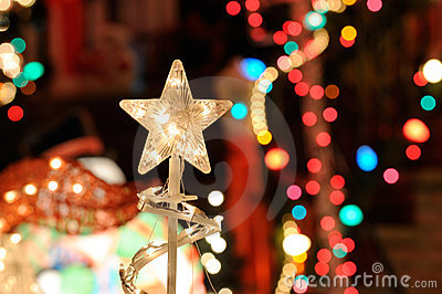 Christmast Lights and Star