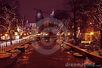 Christmastime in Amsterdam Netherlands