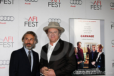 Christoph Waltz, John C Reilly,  Editorial Stock Image