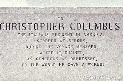 Christopher Columbus Plaque
