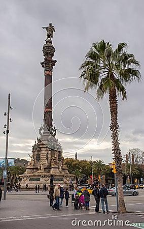 Christopher Columbus statue Barcelona Port