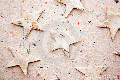 Chritmas Stars On Recycled Paper Background Royalty Free Stock Photography - Image: 21386137