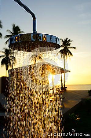 Chrom prysznic