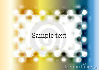 Chrome background frame colorful with sample text