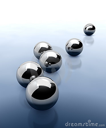 Chrome Spheres Abstract Background