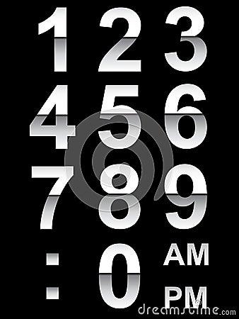 Chrome Clock Numbers EPS