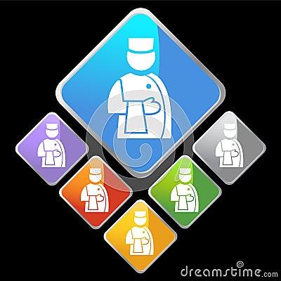 Chrome Diamond Icons - Customer Service
