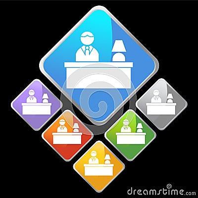 Chrome Diamond Icons - Desk