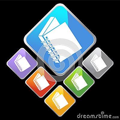 Chrome Diamond Icons - Notebook Binder