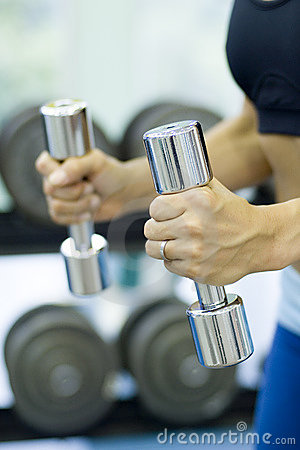 Free Chrome Dumbbells 2 Stock Images - 322634
