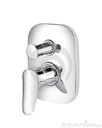 Chrome faucet for hot and cold water