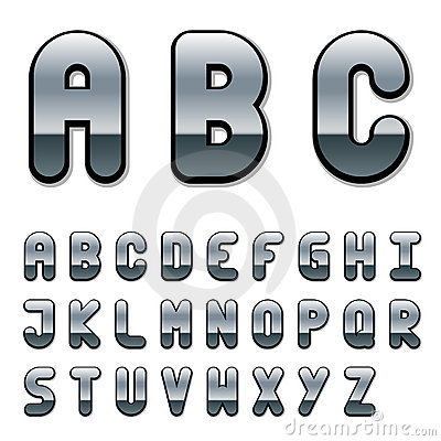 Chrome font alphabet