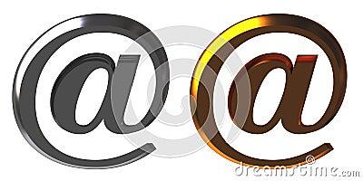 Chrome and gold email alias