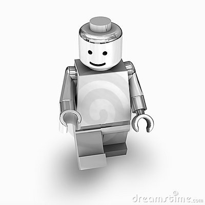 Chrome lego man Editorial Stock Photo