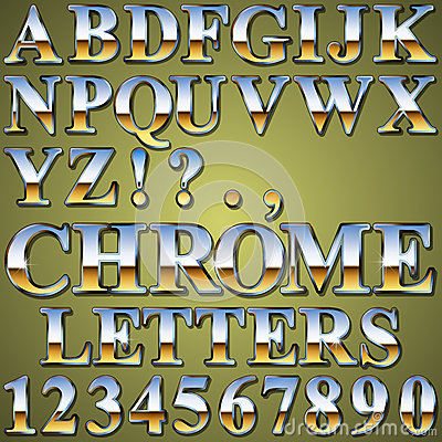 Chrome Metal Letters
