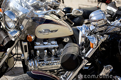 Chrome of Motorcycle