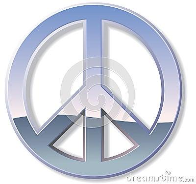 Chrome Peace Sign