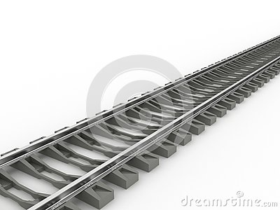 Chrome rails and concrete sleepers №2