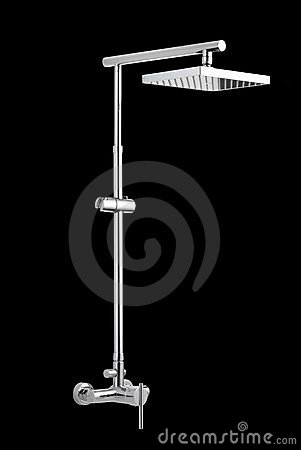 Chrome shower head wall type