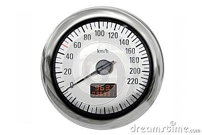 Chrome speedometer