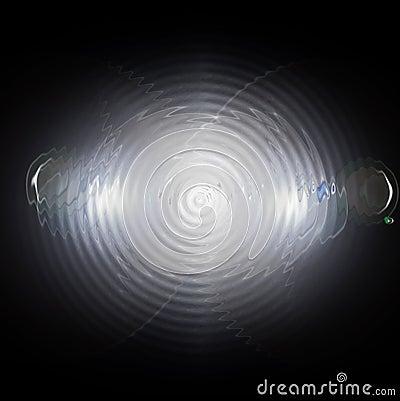 Chrome spiral background