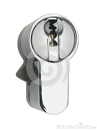 Chrome steel door lock mechanism