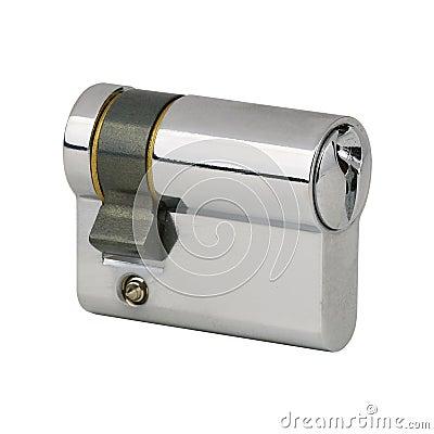 Chrome steel door lock mechanism