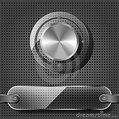 Chrome volume knob with transparency plate