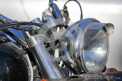 Chromed headlight
