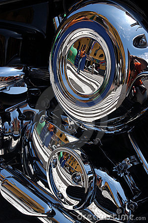 Free Chromed Motor Bike Stock Images - 149854